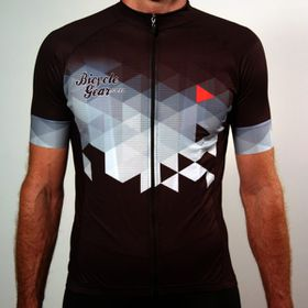 Bicyclegear Cycling Jersey in Grey and Red