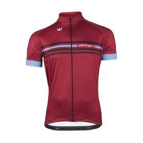 Vermarc  Cycling Jersey Marroon in Marroon