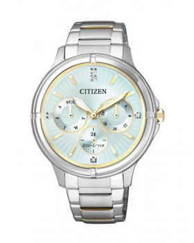 Citizen Ladies Swarovski Eco Drive Dress Watch - FD2034-50W