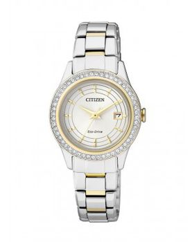 Citizen Ladies Swarovski Eco Drive Dress Watch - FE1124-82A