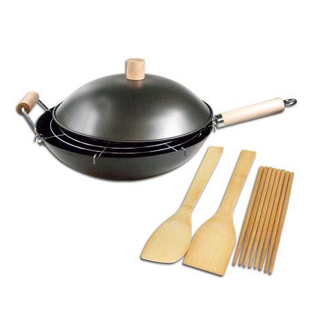 Regent - Oriental Chef - 13 Piece Wok Set with Lid