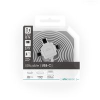 Allocacoc 3-in-1 USB Charge Sync Cable - White