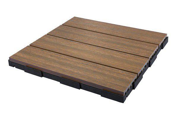 Snap Go Decking Tile Pecan 4 Tiles