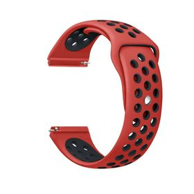 Silicone Sports Band for FitBit Blaze - Red & Black (Size: M-L)