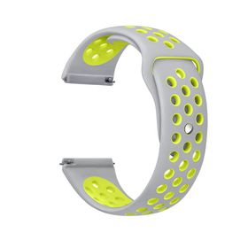 Silicone Sports Band for FitBit Blaze - Silver & Yellow (Size: M-L)