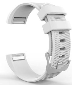 Classic Replacement Band for FitBit Charge 2- White (Size: Med/Large)
