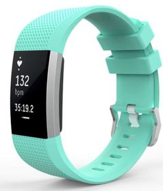 Classic Replacement Band for FitBit Charge 2- Teal (Size: Med/Large)