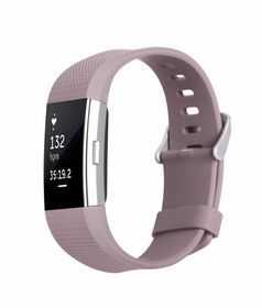 Classic Replacement Band for FitBit Charge 2- Lavender (Size: Med/Large)
