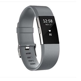 Classic Replacement Band for FitBit Charge 2- Grey (Size: Med/Large)