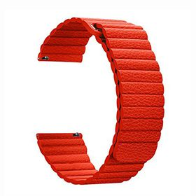 Leather Loop Band for Samsung S3 Frontier & Classic Watch - Red