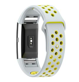 Silicone Sports Band for FitBit Charge 2 - Black & White