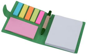 Marco Sticky-Memo Mini Notepad and Pen [Green]