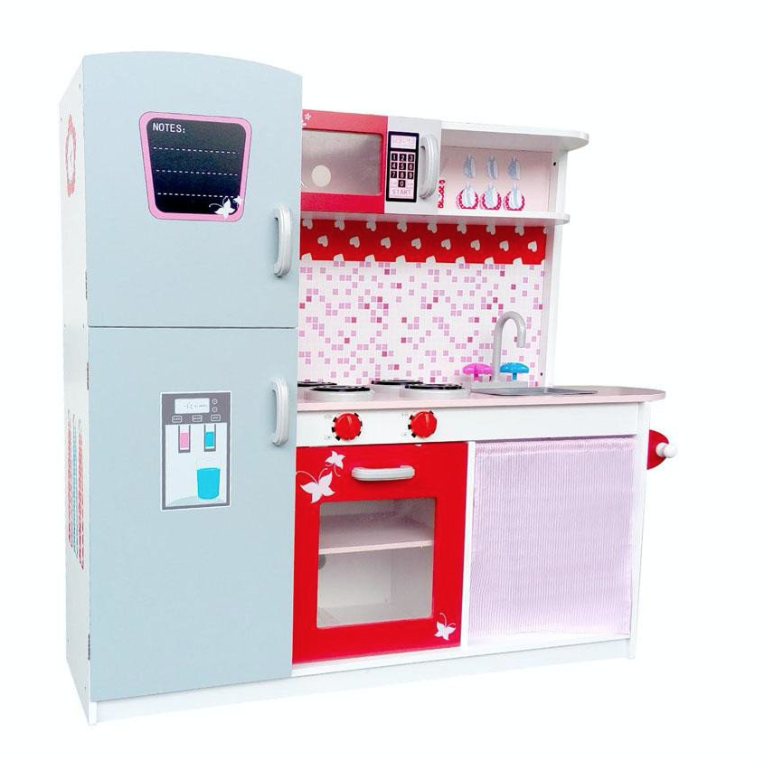 Kids Pink Wooden Kitchen Loading Zoom