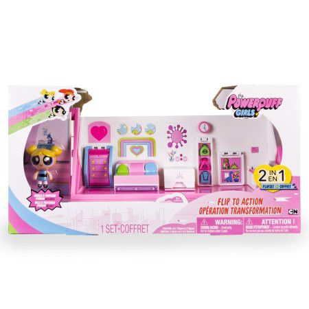 Power Puff Girls DLX Action Playset 2 Inch Doll   Bedroom And Lab