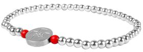 Red Paw Project Stainless Steel Bracelet Light Silver (Size: Medium)