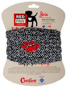 Red Paw Project Infinity Scarve - White Flakes