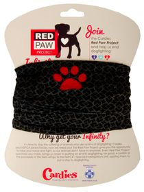 Red Paw Project Infinity Scarve - Grey Hearts