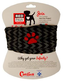 Red Paw Project Infinity Scarve - Grey Chevron