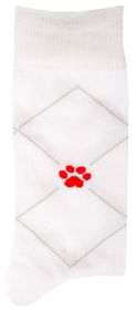 Red Paw Project Socks - White (Size: UK 4 - 7)