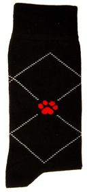 Red Paw Project Socks - Black (Size: UK 7 - 10)