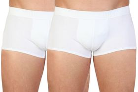 Datch Mens Boxer Shorts Bipack - White