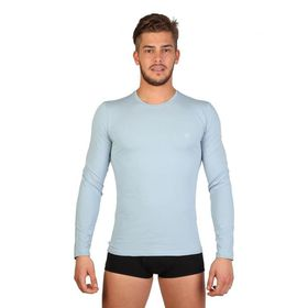 Datch Mens Long Sleeve T-Shirt - Pale Blue