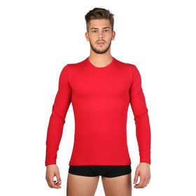 Datch Mens Long Sleeve T-Shirt - Red