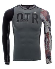 Men's Reebok OTR Long Sleeve Compression Running T-Shirt