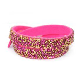 Lily & Rose Cerise Pink Coloured Wrap Bracelet