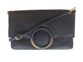 Vikson Black Circle Trim Fold Clutch