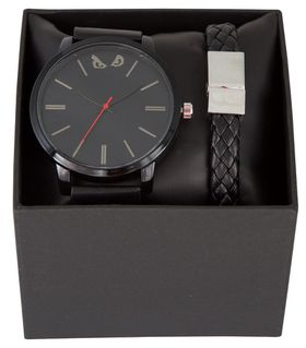 Bad Boy Gents Analogue Watch - Leatherette Watch & Bracelet Set