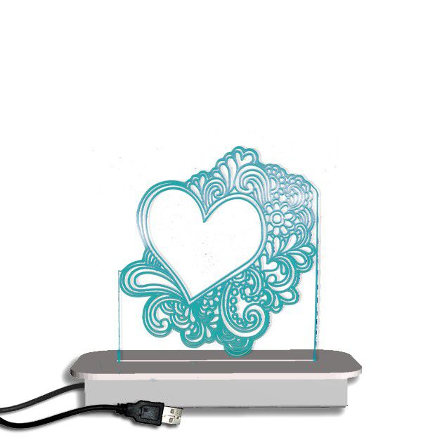 Illuminate Creations Doodle Heart Night Light ...