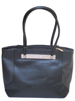 David Jones PU Leather Tote CM3415 - Black