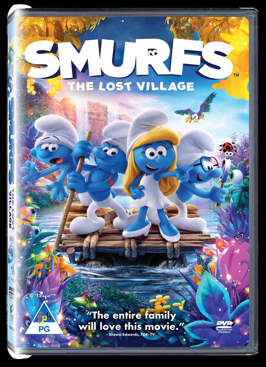 smurfs  the lost village  dvd