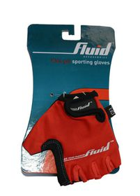 Junior Fluid Cycling Gloves - Red