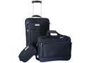 Eco 3 Piece American Aviator Luggage Set - Black