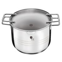 Berlinger Haus Casserole with Glass Lid 22cm Stainless Steel - Napoli Collection