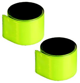 Medalist Reflective Snap Bands - Yellow