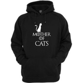 Mother Of Cats Hoodie-Black