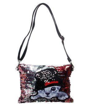On Fleek Sequin Cat Bag - Bronze