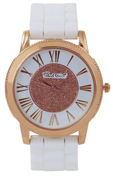 Bad Girl Enchanted Analogue Ladies Watch - Rose Gold and White
