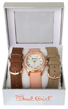 Bad Girl Savannah Interchangeable Strap Set - Rose Gold