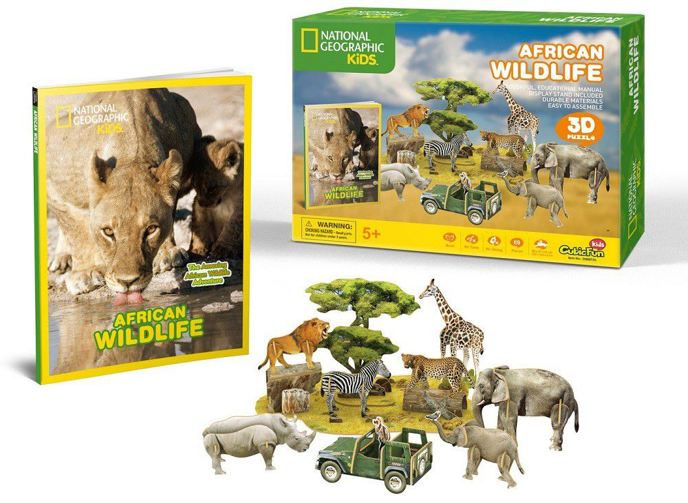 Cubic Fun National Geographic African Wildlife 3D Puzzle