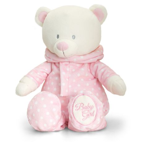 d34f62fa8 Keel Toys Baby Bear In Romper Suit 25cm - Pink