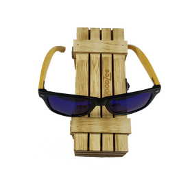 WoodZee Wooden Bamboo Sunglasses - Blue