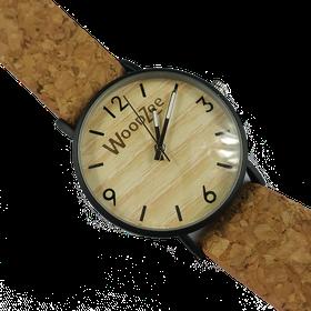 WoodZee Corkage Wooden Watch with Cork Strap