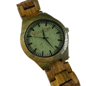 WoodZee Green Fever Wooden Watch with Wood Links