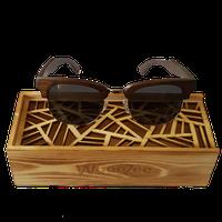 WoodZee Metal Ebony Sunglasses with Polarized Lenses
