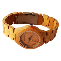 WoodZee Miss Bamboo Wooden Watch with Wood Links