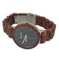 WoodZee Prince Rose Wood Watch with Wooden Links